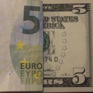 De koers van de Euro is weer flink gedaald.