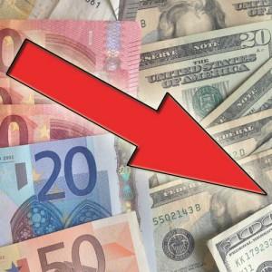 De euro koers blijft maar dalen.